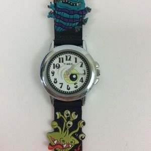Vtg Real Monsters Timex Watch Eyeball Face